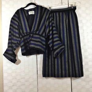 Albert Nipon Vintage 80s Wool Suit In 6